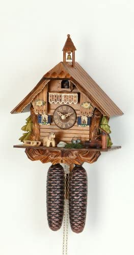 German Cuckoo Clock 8-day-movement Chalet-Style 12 inch – Authentic black forest cuckoo clock by Hekas