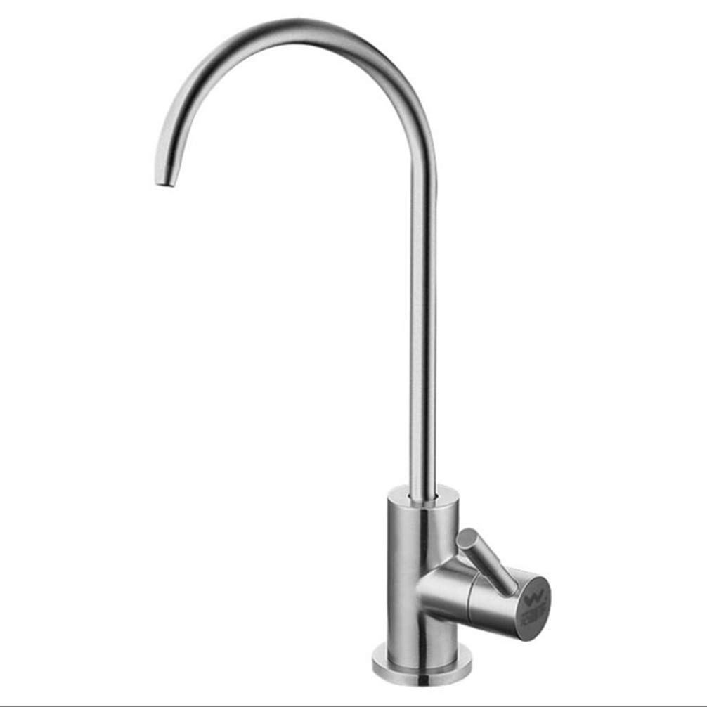 FZHLR Direct Drinking Faucet 304 Stainless Steel Lead-Free Kitchen Drinking Water Tap For Filter Purify System Such As Reverse Osmosis,Single