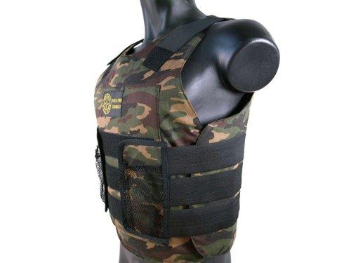 BBTac Airsoft Protection Vest, Padded Cushion (Woodland Camo)