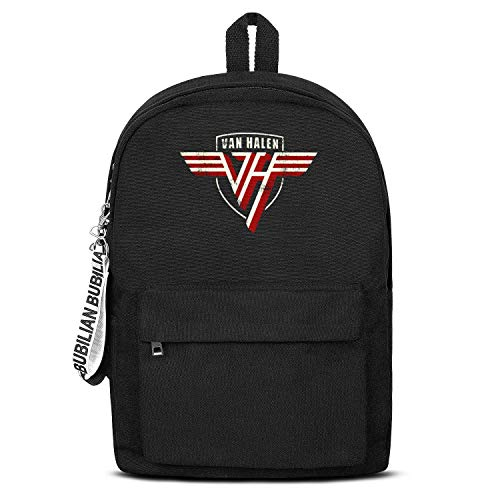Company Bag Durable Black Letter College Canvas Backpack for Women
