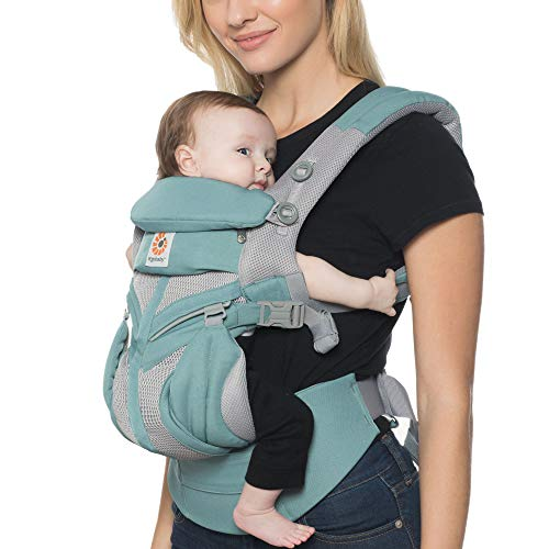 Big Save! Ergobaby Omni 360 Cool Air Mesh All-in-One Ergonomic Baby Carrier, All Carry Positions, Newborn to Toddler, ICY Mint