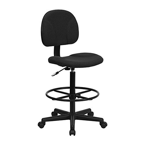 27 Stools Drafting (Flash Furniture Black Patterned Fabric Multi-Functional Ergonomic Drafting Stool (Adjustable Range 26''-30.5''H or 22.5''-27''H) Electronics, Accessories, Computer)