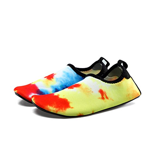 kissavi Damen Herren Aqua Schuhe Badeschuhe Schwimmschuhe Wasserdicht Schnell Trocknend Schuhe,Sommer Wasserschuhe Surfschuhe Barfuß Schuhe 5