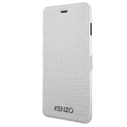 KENZO – aufklappbare Schutzhülle für iPhone 6 – Krokodilleder-Optik/weiß