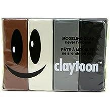 Van Aken Plastalina Modeling Clay 1 lb. neutral tones set of 4 white, ivory, gray, black