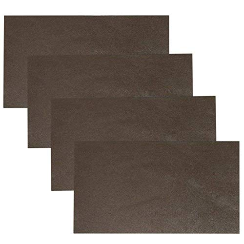 Adhesive Back Leather Repair Patch for Car Seat Couch Jackets Handbags 4x8 Inches, Pack of 4 (Brown)