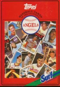 Topps Baseball Cards of the California Angels