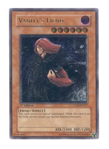 Yu-Gi-Oh! - Vanity's Fiend (CDIP-EN017) - Cyberdark Impact - 1st Edition - Ultimate Rare (Impact Vanitys Cyberdark)
