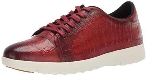 STACY ADAMS Men's Halcyon Exotic-Print Cap-Toe Lace-Up Sneaker Cranberry 13 M US - Exotic Mens Shoes