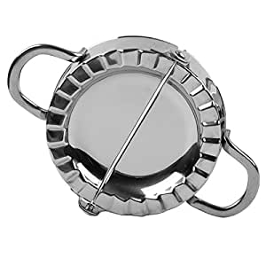 Artmice-Dumpling Maker,Artmice Stainless Steel Dumpling Maker and Dough Press for Home Kitchen, Stainless Steel Dumpling Pie Ravioli Mold Mould Maker Pastry Tool for Cooking (1 Piece, Small)