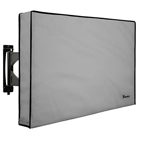 Outdoor TV Cover 30'-32' - Weatherproof - Fully covered - Universal for Any Mount and Stand - Grey