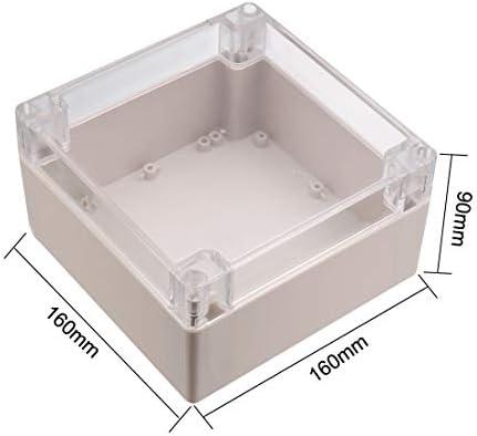 uxcell - Caja de derivación de plástico ABS, IP67, resistente al agua, 160 x 160 x 90 mm, con cubierta transparente: Amazon.es: Bricolaje y herramientas