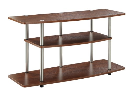 Tv Wood Contemporary Finish Stand (Convenience Concepts Designs2Go 3-Tier Wide TV Stand, Cherry)