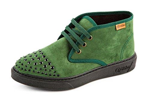 Natural World, Scarpe stringate donna Verde verde 36
