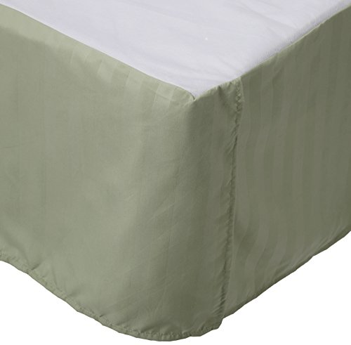 Luxury Bed Skirt on Amazon! Celine Linen Luxury 1500 Thread Count Wrinkle Resistant Egyptian Quality STRIPE Bed Skirt / Dust Ruffle - 14inch Drop,Twin,Full,Queen,King,California King
