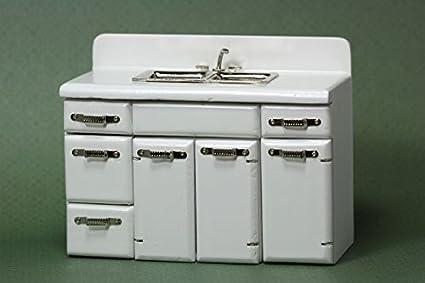 Amazon.com: Retro Kitchen Sink by Town Square Miniatures ...