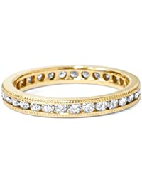 1ct Channel Set Diamond Eternity Ring 14K Yellow Gold