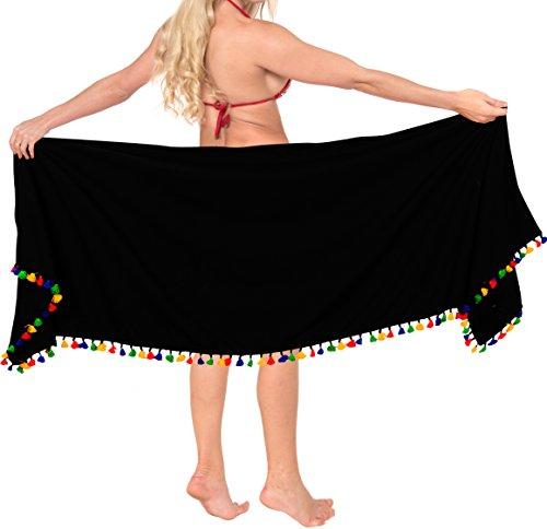 Pannello Corto Delle Da Donne Spiaggia Cover up b363 Usura Pareo Del Esterno Costume Nero Bagno Leela La Dell'involucro OA8xwBqFq