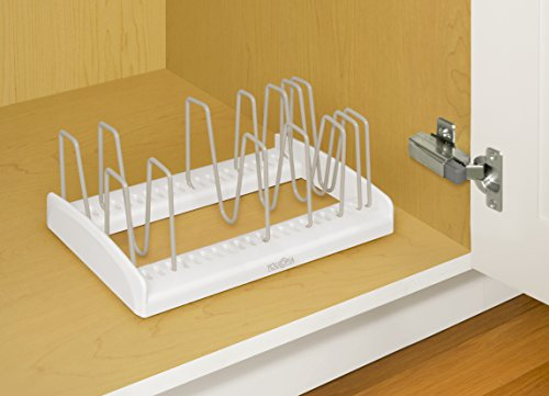 Large Product Image of YouCopia StoreMore Adjustable Lid Holder, White