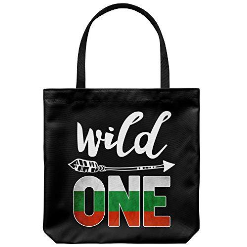 Bulgaria Wild One Birthday Outfit 1 Bulgarian Flag Tote Bag Gift Idea ()