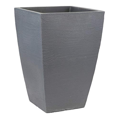 - Tusco Products MSQT23SL Modern Square Garden Planter, 23-Inch, Slate