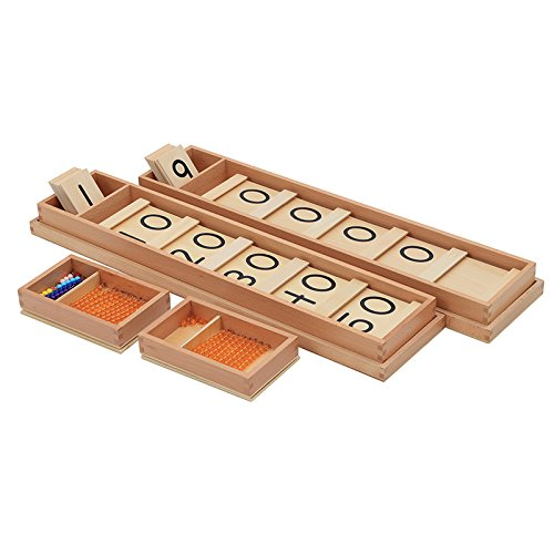 Montessori Math Teens and Tens Seguin Board with Bead Bars Wood Toys Early Childhood Education Preschool Training Baby by DANNI (Image #2)
