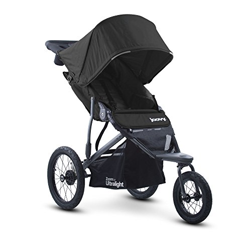 Buggy Sun Protection - Joovy Zoom 360 Ultralight Jogging Stroller, Black