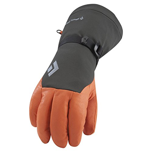 Black Diamond Gloves Series for Work, Cold Weather, Ski, Climbing, Heavy Duty (Orange Xcr Gloves)