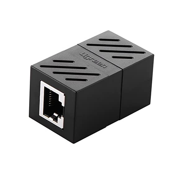 UGREEN RJ45 Coupler Cat7 Cat6 Cat5e Ethernet Cable Extender Adapter LAN Connector in Line Coupler Female to Female 1 USAGE: Ugreen RJ45 Coupler extender is ideal for extending ethernet connection by connecting 2 short network cables together. FAST SPEED To 10 GIGABITE: The RJ45 connector can speed up to 10 gigabite for connecting Cat7/Cat6 ethernet cable. SAFE And SECURE: With nickel plated contacts and easy snap-in retaining clip, the coupler ensure a secure and corrosion free connection.