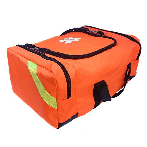 Trauma Kit Bag - Ever Ready First Aid Large EMT First Responder Trauma Bag - Orange
