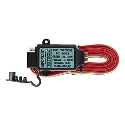 CURT 55177 Non-Powered 3-to-2-Wire Splice-in Trailer Tail Light Converter with 4-Pin Wiring Harness: Automotive