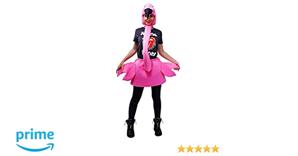 Adult Womens Flamingo Party Costume Pink