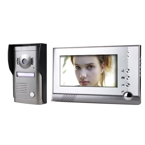 Lightinthebox 7 Inch Color Video Door Phone System with Alloy Weatherproof Cover Camera