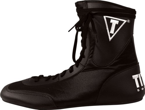 TITLE Lo-Top Boxing Shoes, 9, BK
