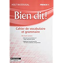Bien Dit!: Vocabulary and Grammar Workbook Student Edition Level 1a/1b/1