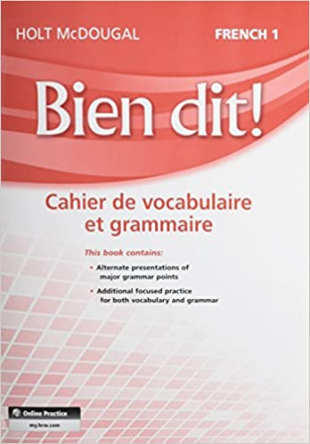 Bien Dit Vocabulary And Grammar Workbook