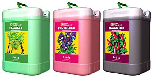 General Hydroponics Flora Series 6 Gallons: FloraGro, FloraBloom, and FloraMicro by General Hydroponics