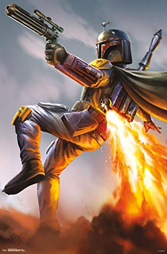 Trends International Star Wars-Boba Fett Mount Bundle Wall Poster 22.375