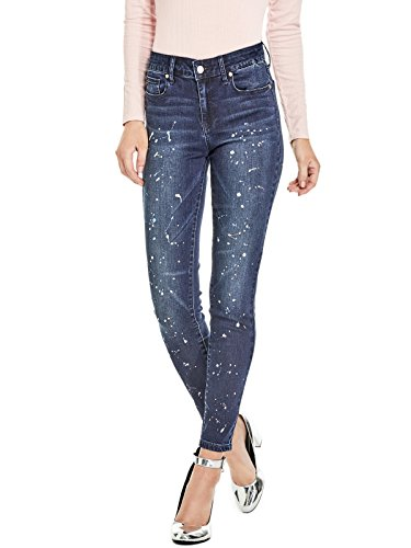 GUESS Factory Women's Katia Paint Splatter Skinny Jeans