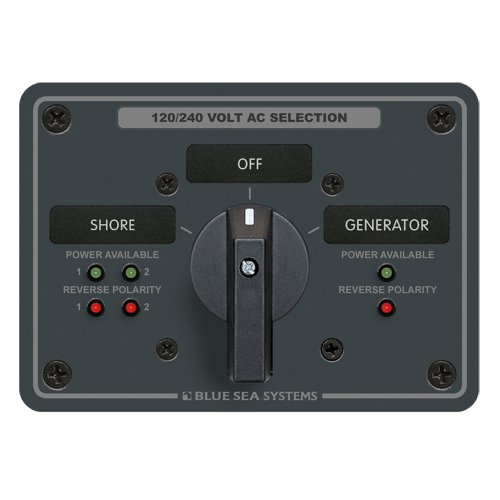 1 - Blue Sea AC Rotary Switch Panel 65 Ampere (Blue Sea 9011 Switch)