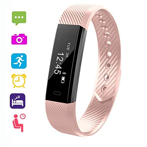 VeeEx Fitness Tracker, Activity Tracker, Bluetooth 4.0 Smart Bracelet as Step Counter, Sleep Quality Monitor, Pedometer Watch for iPhone Xs max/Xs/XR/X/8/7/6/SE, iPad, Samsung Galaxy S9/S8/S7