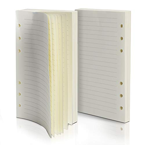 (Purture Refill Lined Paper, Leather Journal Refills Lined, 6-Holes Inserts 320 Pages for A6 Refillable Journals Notebooks, 2 Pack(Each Pack 160 Pages))