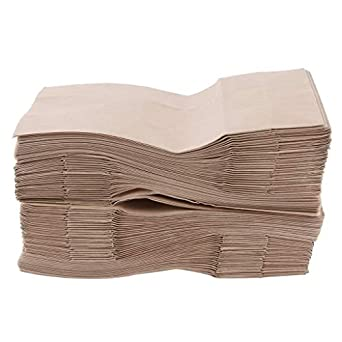 Amazon.com: Baosity - 100 bolsas de papel kraft para ...