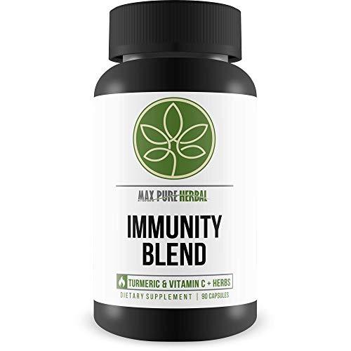 Max Pure Herbal Immunity Blend – Support Immunity Against Viruses & Bacteria – Boost Immune System – Over 2000 MG of Turmeric, Vitamin C, & Immune Boosting Herbs – Potent Pure Immunity Blend