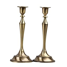 Metal Taper Candle holder,Set of 2 ,Bronze