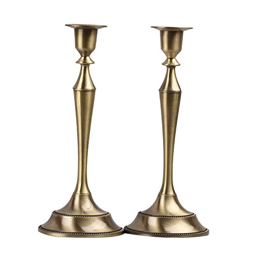 Metal Taper Candle holder,Set of 2,Bronze (Taper Votive)