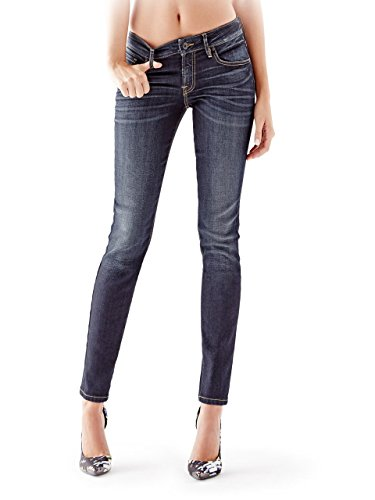 GUESS Women's Mid-Rise Power Curvy Jeans in Dikens Wash