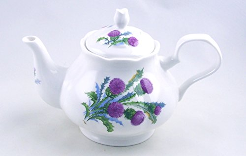 Cottage Staffordshire (Fine English Bone China 6 Cup Teapot - Thistle Chintz - England)