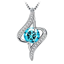 Necklace, Sterling Silver Pendant Necklace J.Rosée Fine Jewelry for Women The Eye of Lover Best Gift for Wife Girlfriend Mom, Mothers Day Gift with Exquisite Package