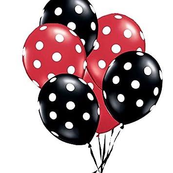 Amazon.com: STORE-HOMER - Ladybug Black Red White Spot Latex ...